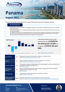 Panam economic summary report August 2021