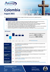 Colombia economic summary report August 2021