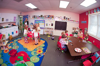 Children playing at Oak Grove Preschool & Kindergarten in Chesapeake, VA 23320