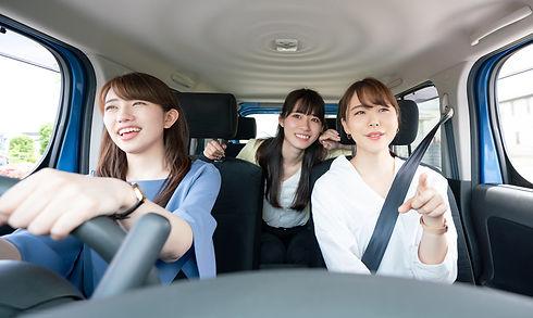 レンタカーで女子旅
