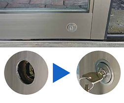 自動ドアのカギ交換