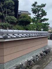 台風被害修繕工事(塀瓦積み替え工事)