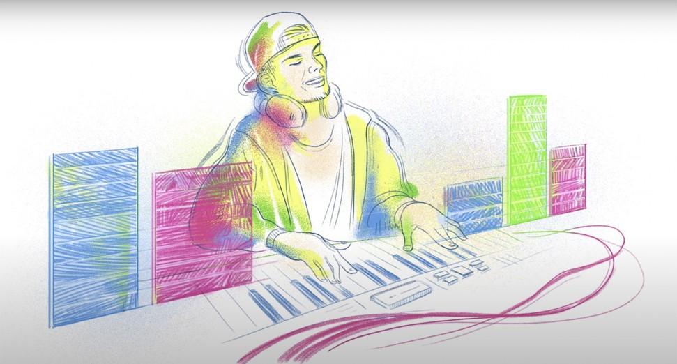 Avicii ganha homenagem do Google para comemorar o que seria o 32º aniversário do DJ.