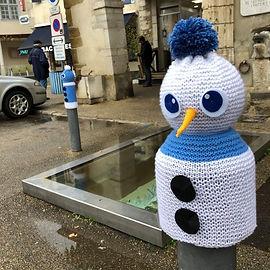 bonhomme de neige tricot