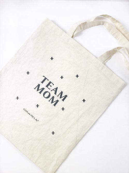 Tote bag 'Team mom'