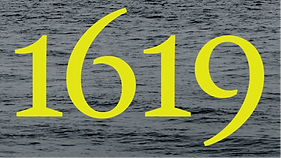 a background image of water with 1619 written in yellow