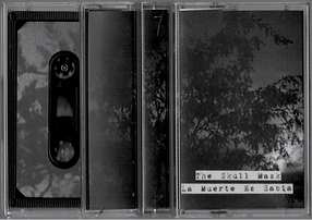 Four black and white cassettes with the image of a tree on them