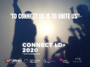 "A poster saying ""To connect us is to unite us"""