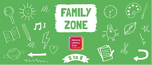 "A green poster saying ""Family Zone"""