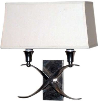 Visual Comfort, Small Light Cross Bouillotte Sconce