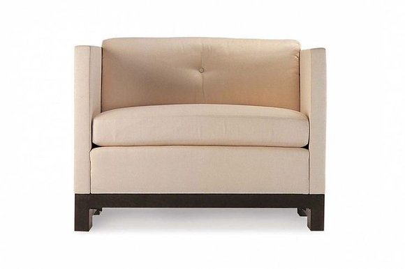 Bolier and Company, Tufted Curved Back Lounge Chair