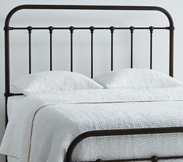 QUEEN size Arlington Headboard Only  - Dark Brass