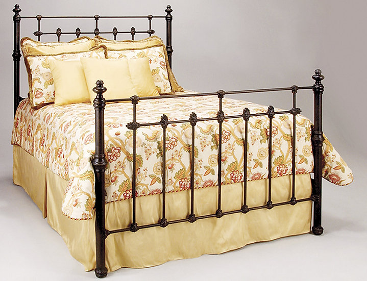 wonderful mediterranean vine a pattern bed iron beds for floral caporali flair wrought vines bedroom the design in