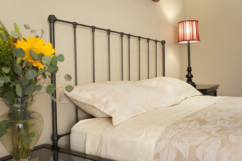 California King size Hampshire Iron Bed - Headboard Only - Gunmetal