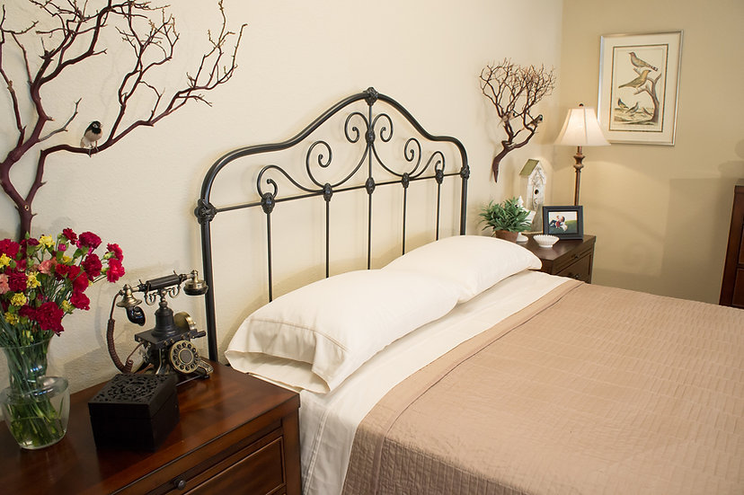 Claiborne King Size Iron Bed - Headboard Only - Gunmetal