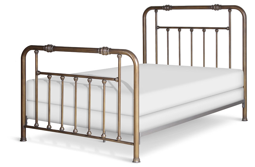 Franklin Iron Bed - Twin Size - Complete Bed - Finished as shown