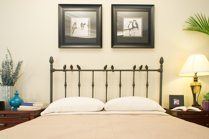 Homewood Iron Bed Full size Headboard Only - Rust finish