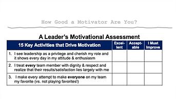 A Leader's Motivational Assessment