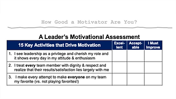 A Leader's Motivational Assessment