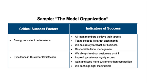 The Model Organization