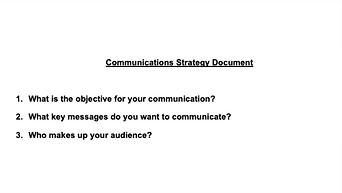 Communications Effectiveness Document