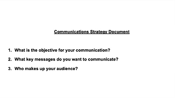 Communications Effectiveness Document