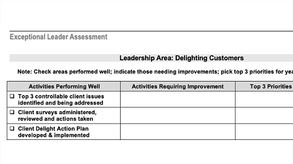 Exceptional Leader Assessment