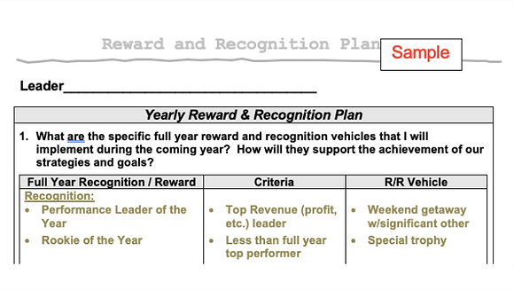 Recognition Planning Tool