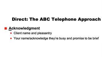 ABC Telephone Approach