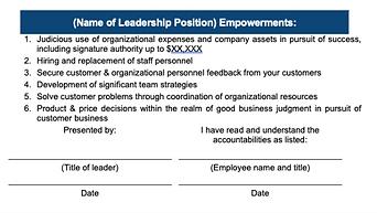 Leadership Accountabilities