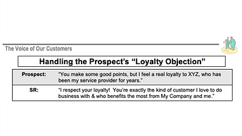 Handling the Prospect's Loyalty Objection