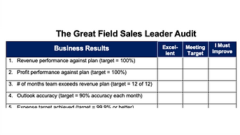The Great Field Leader Audit