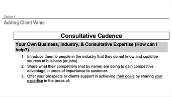 Consultative Cadence - 4 Ways to Add Client Value