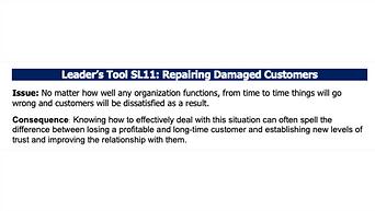 Repairing Damaged Customers