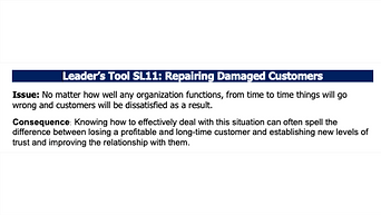 Repairing Damaged Customers