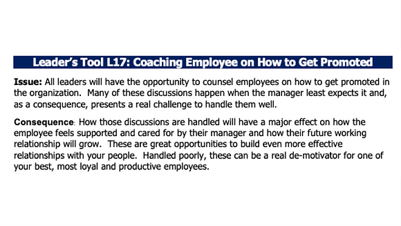 Coaching Employees on Getting Promoted
