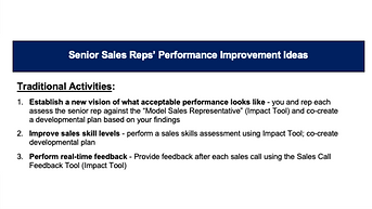 13 Ideas to Step Up Senior Sales Rep Performance