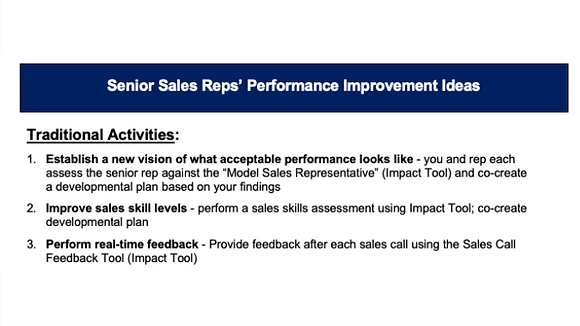 13 Ideas to Step Up Senior Sales Rep Performance