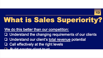 Change the Game on Your Competition – Develop Sustainable Sales Superiority