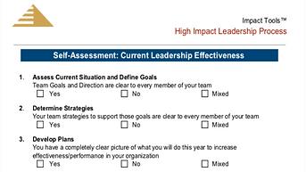 High Impact Leadership Process