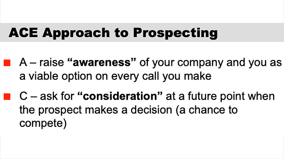 ACE Approach to Prospecting