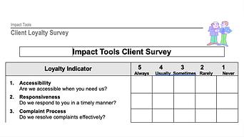 Client Loyalty Survey