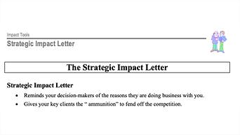 Strategic Impact Letter