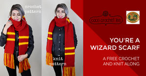 You're A Wizard Scarf -Free KNITTING Pattern