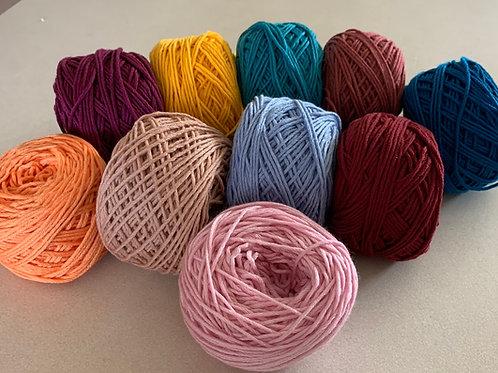 8 Ply Australian Merino. Colour Palette A