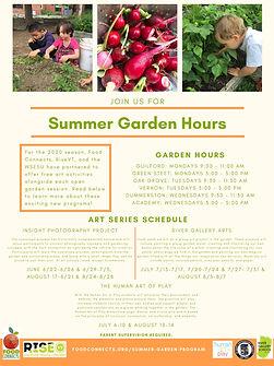 Summer Garden Hours - Main Info Poster.j