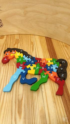 Quebra - Cabeça Alfabeto e Números - Cavalo