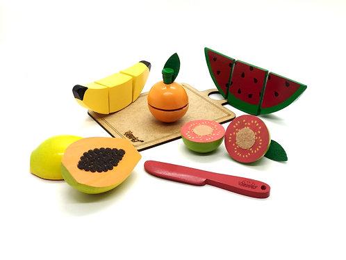 Kit 5 frutinhas c/ corte