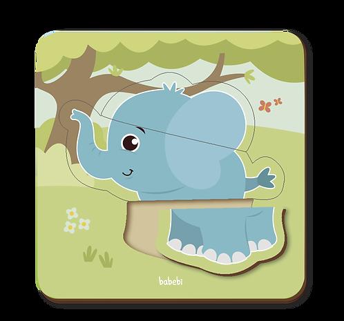 Quebra - Cabeça Baby: Elefante