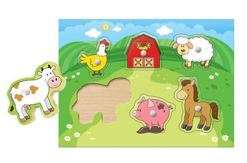 Meu Primeiro Quebra-Cabeça: Bichinhos da Fazenda